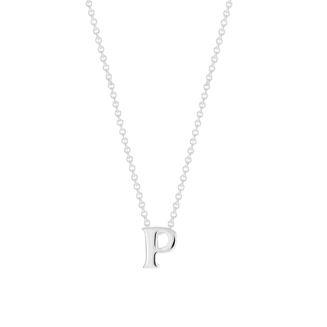 Sterling Silver Letter P Pendant