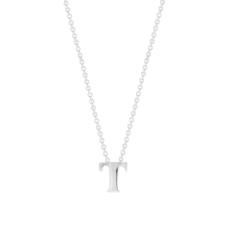 Sterling Silver Letter T Pendant