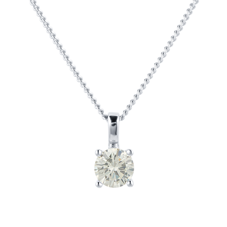 Silver November Yellow Cubic Zirconia Pendant