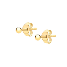 9ct Yellow Gold 2mm Ball Stud Earrings