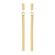 9ct Yellow Gold Round Bar Drop Earrings