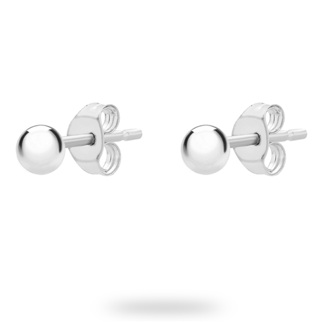 9ct White Gold 3mm Spanish Earrings