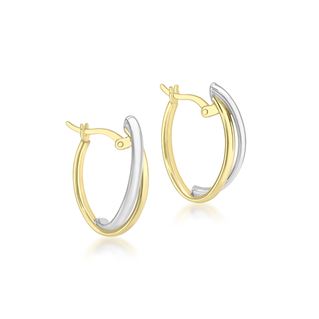 9ct Gold Double Front Hoop Earrings