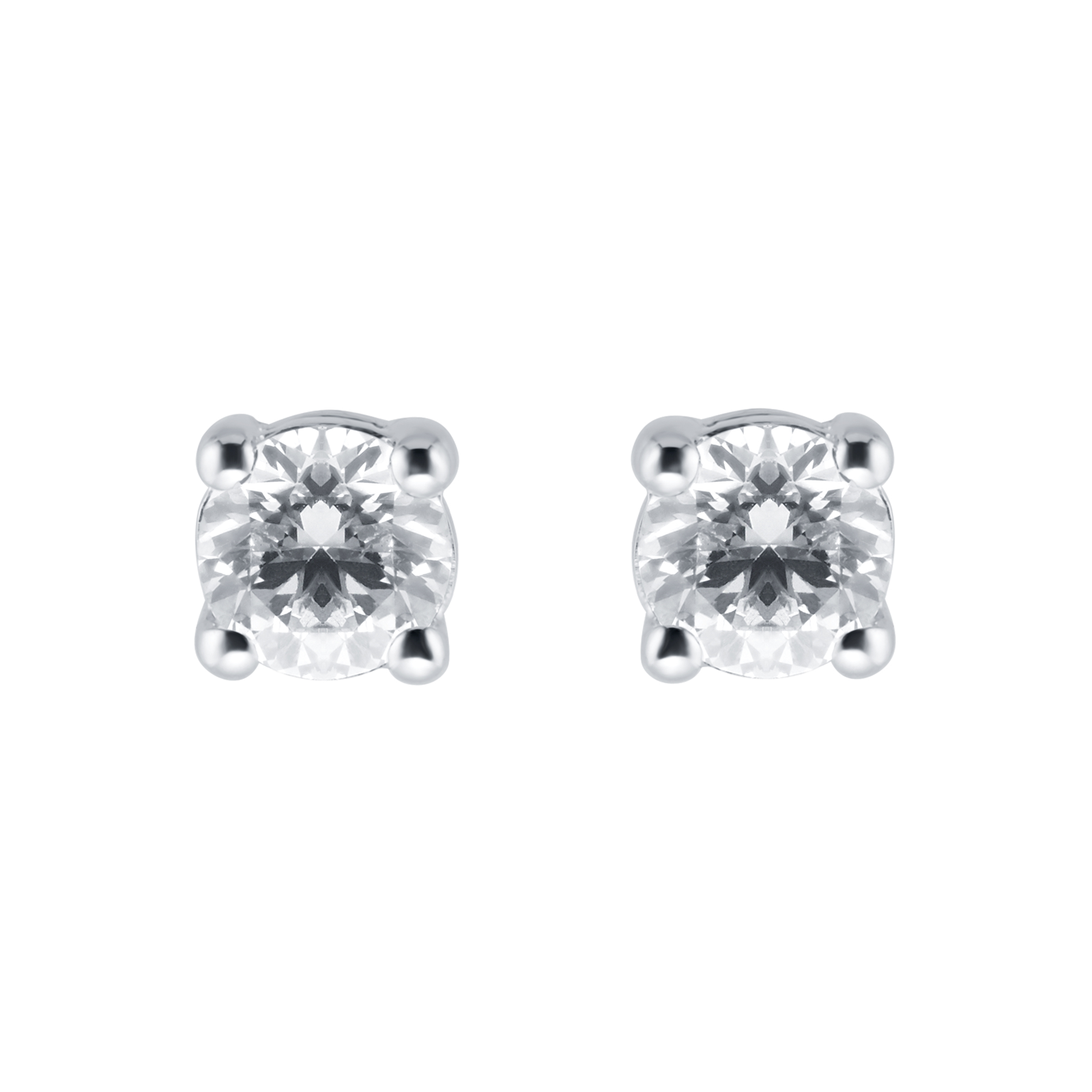 stone zirconia cz in earrings ct round screw stud with cut assented cubic back