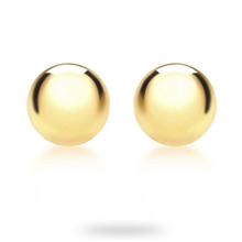 9ct Yellow Gold 5mm Spanish Stud Earrings