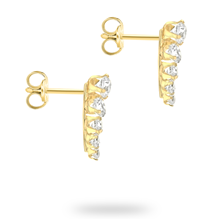 9ct Yellow Gold Comet Climber Earrings