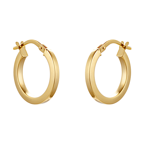 9ct Yellow Gold 16mm Small Hoop Earrings