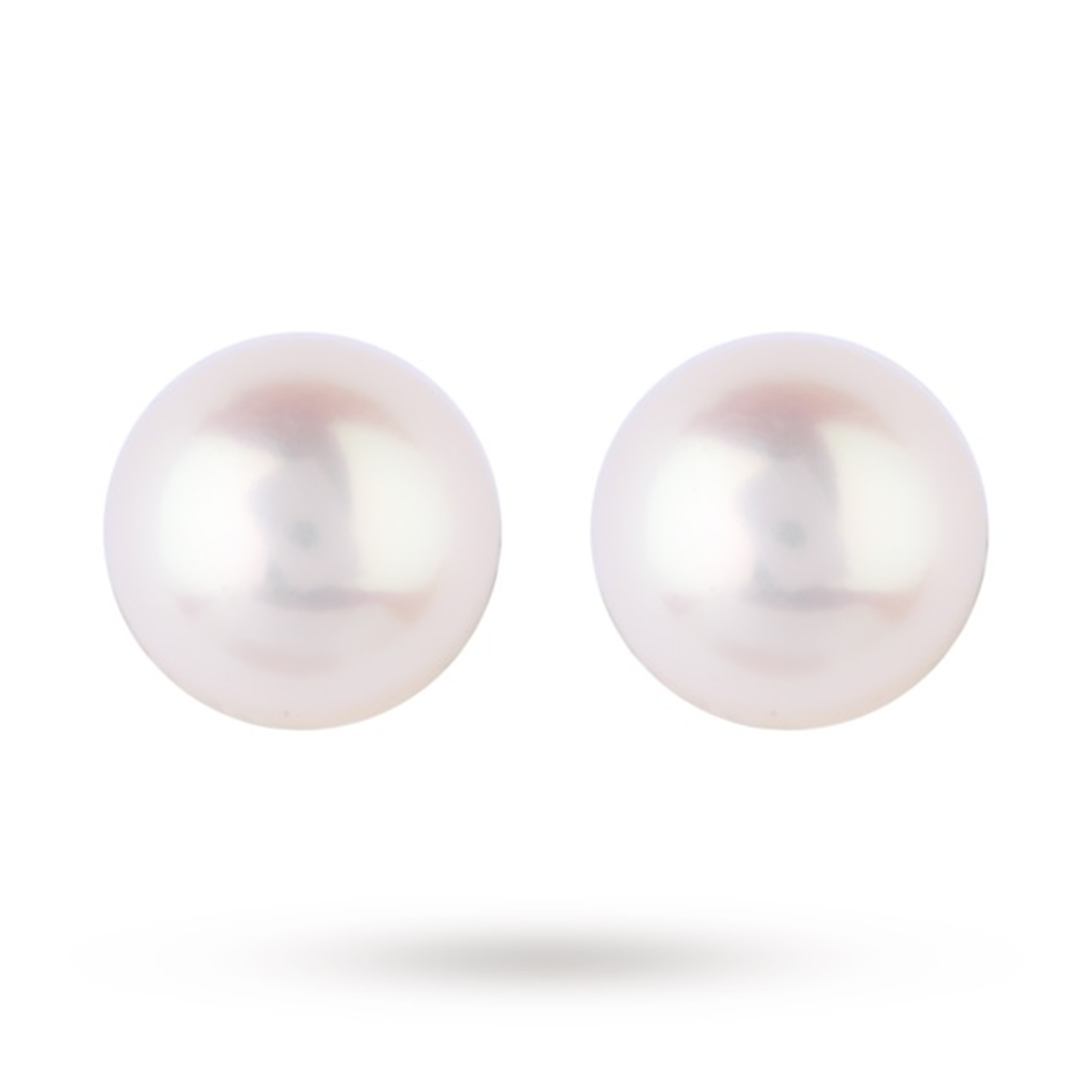 18ct Yellow Gold 6-6.5mm Akoya Pearl Stud Earrings