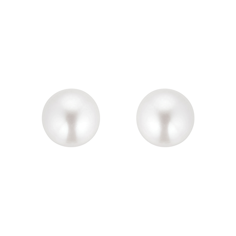 9ct Gold 7-7.5mm Cultured Fresh Water Pearl Stud Earrings