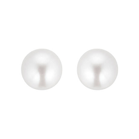 9ct Yellow Gold 9-9.5mm Cultured Fresh Water Pearl Stud Earrings