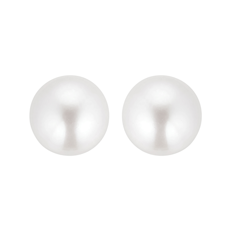9ct Yellow Gold 10-10.5mm Cultured Fresh Water Pearl Stud Earrings