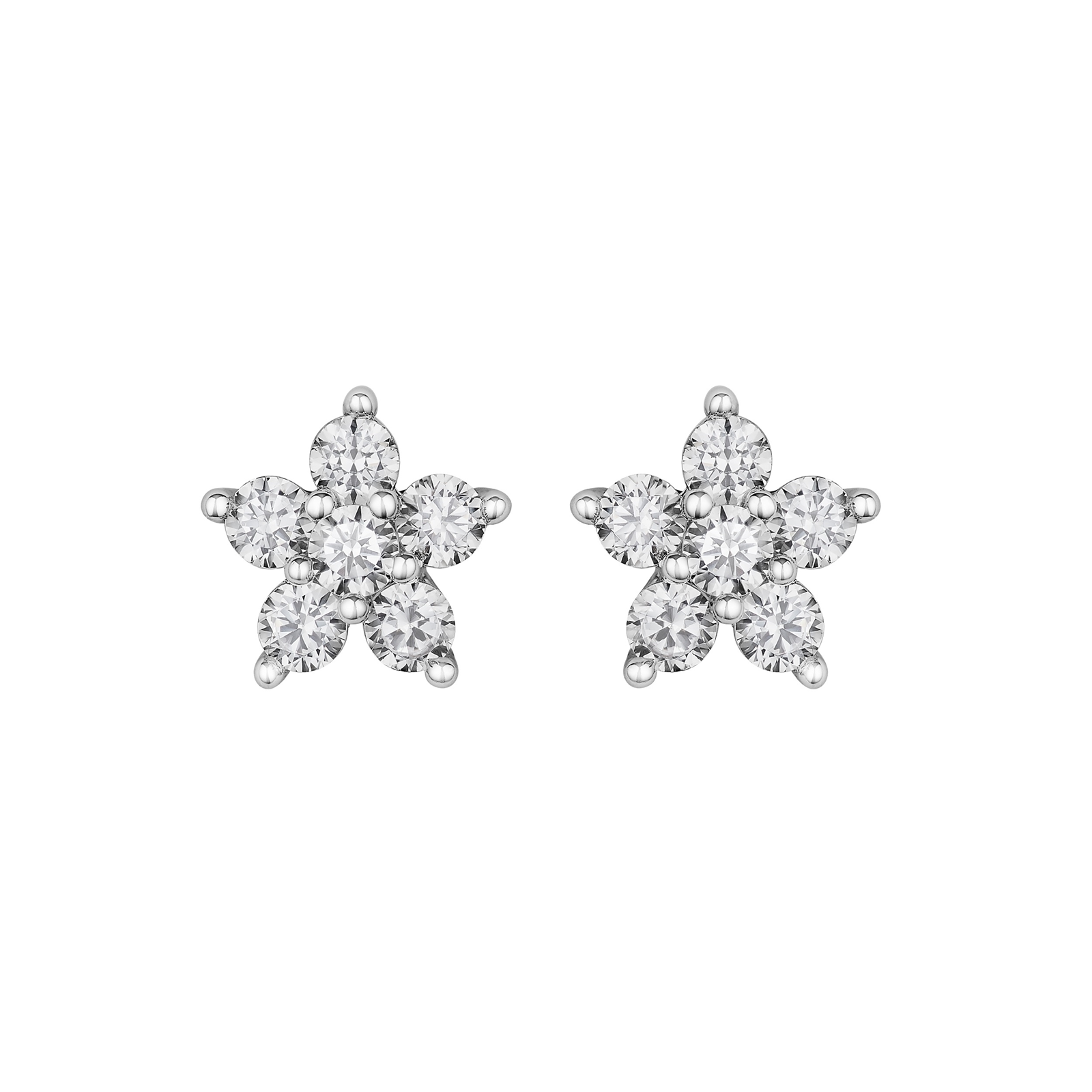 karat products gold total weight carat stud lifestyle update flower earrings with hand diamond