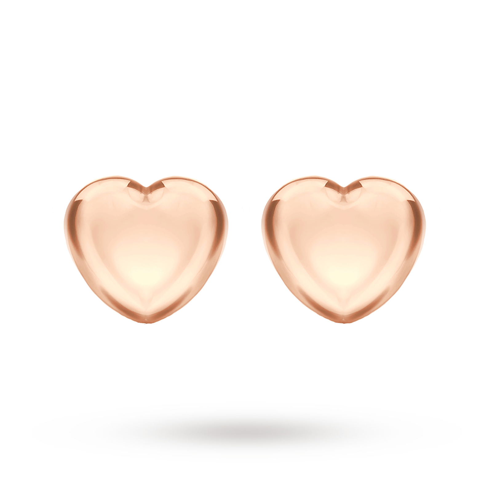classic pair studs single heart yellow yg catbird gold stud