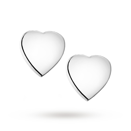 For Her - Sterling Silver Heart Stud Earrings - 8.55.4719