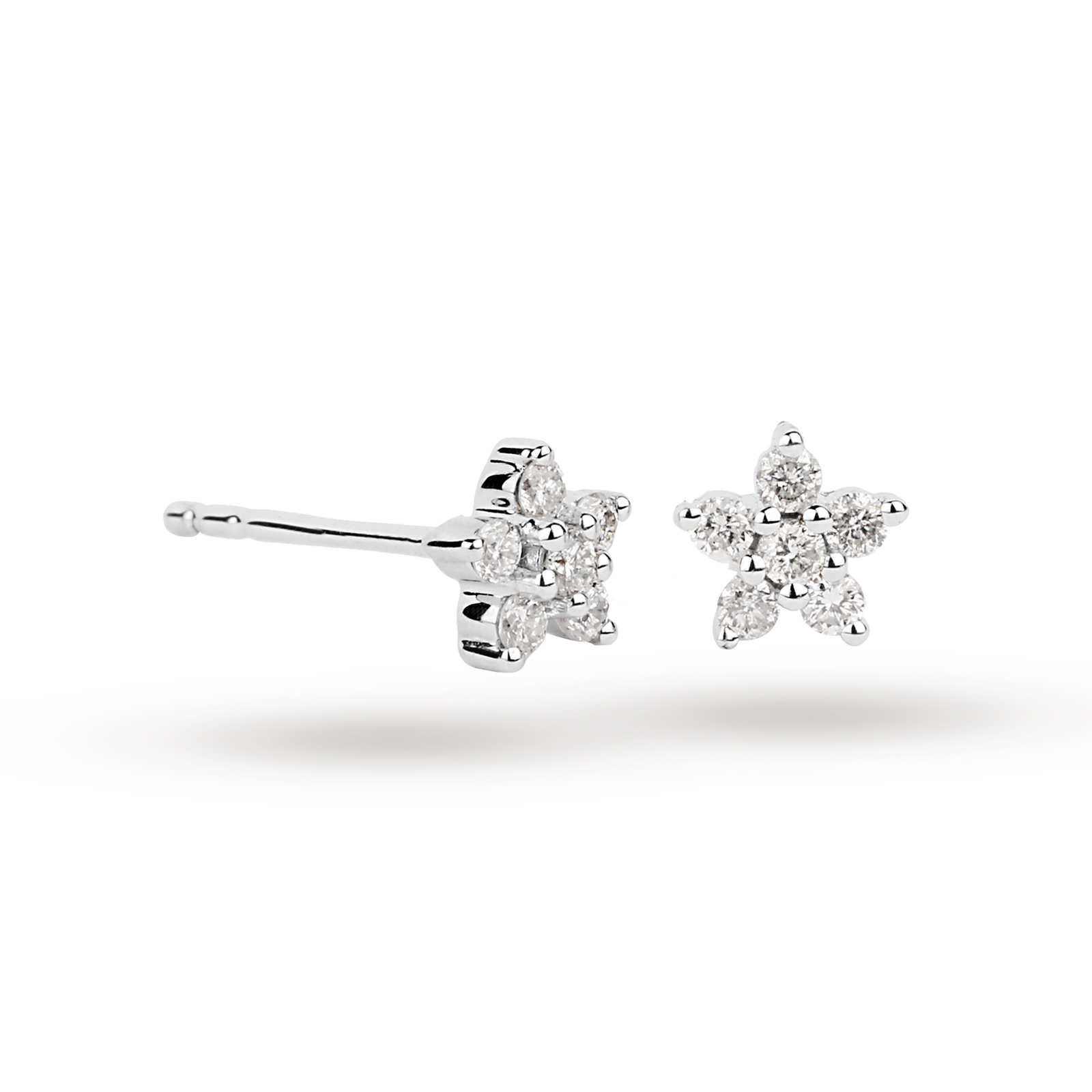 earrings pearl stud at argenteus from collection jewellery products the flower white