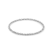 9ct White Gold 60 Diamond Cut Prince of Wales Bracelet