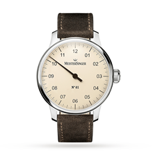 For Him - Meistersinger N 01 Automatic Ivory Unisex Watch - DM303