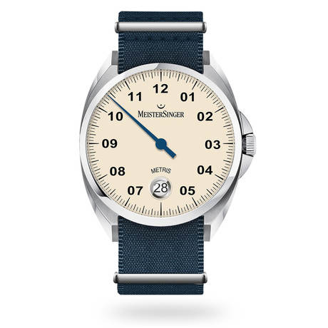 Meistersinger Metris Blue Automatic Unisex Watch