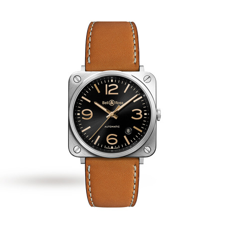 Bell & Ross BRS Golden Heritage Mens Watch