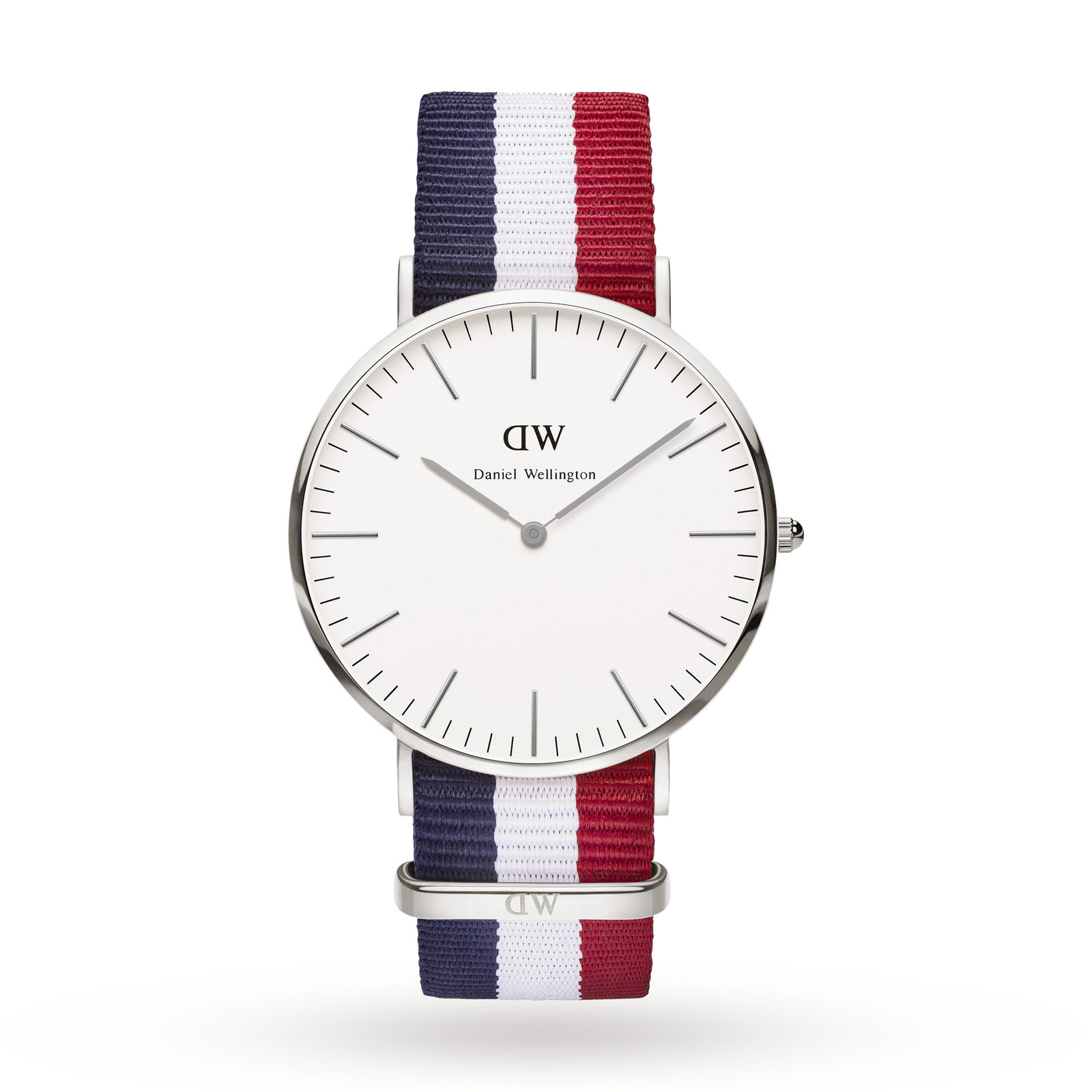 Daniel Wellington Mens Cambridge Silver 40mm Watch