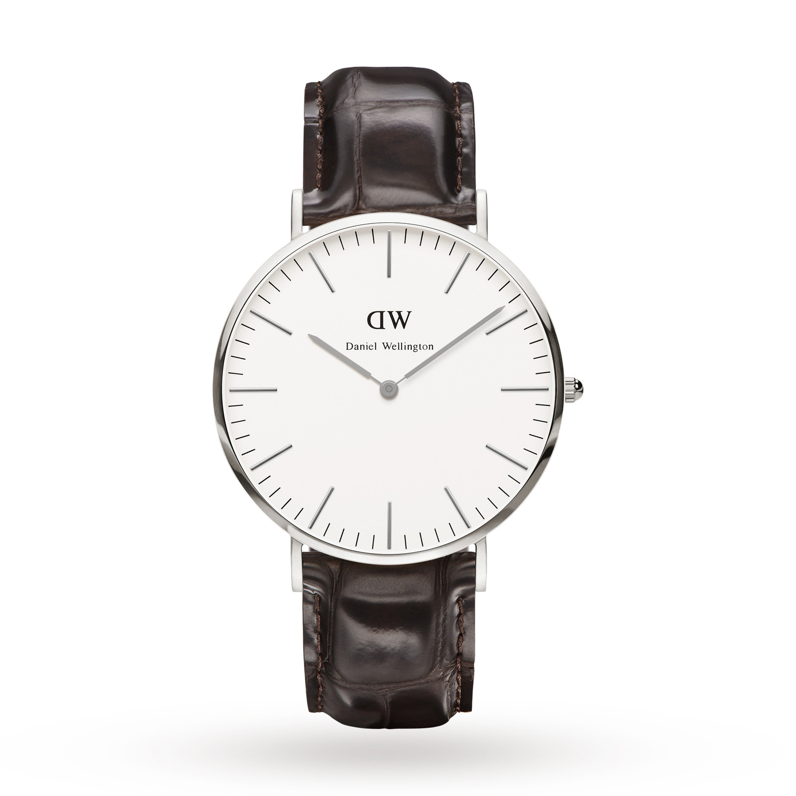 Daniel Wellington Mens York Silver 40mm Watch