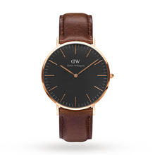 Daniel Wellington Unisex Classic Black Bristol Watch 40mm Watch
