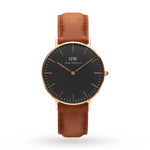 Daniel Wellington Unisex Classic Black Durham Watch 36mm Watch