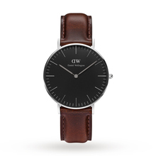 Daniel Wellington Unisex Classic Black Bristol Watch 36mm Watch