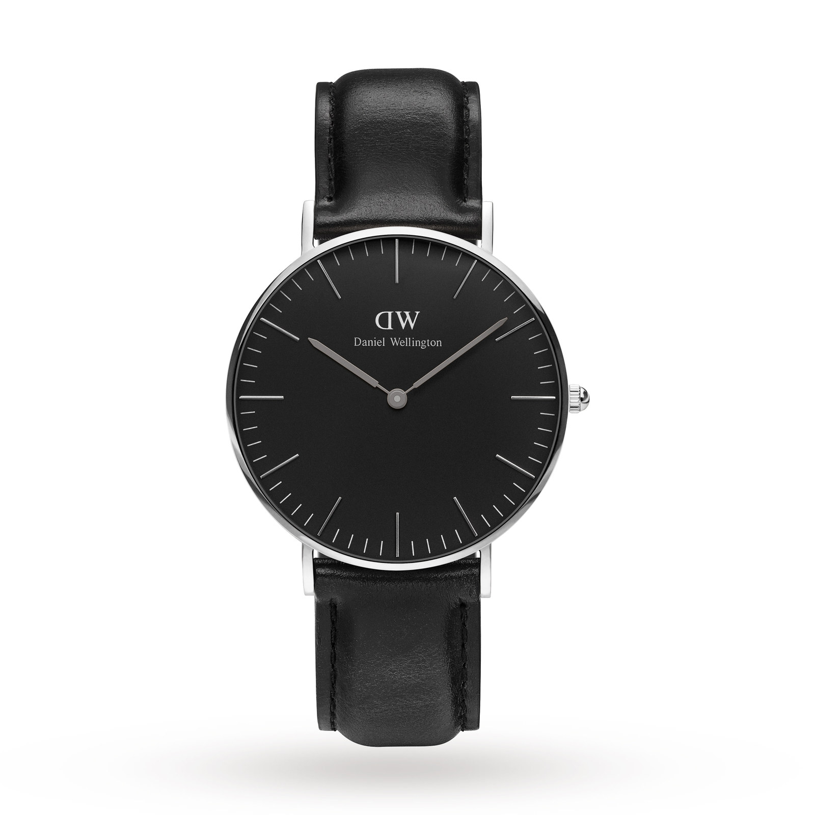 Daniel Wellington Mens Classic Black Sheffield Watch 36mm Watch