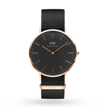 Daniel Wellington Unisex Classic Black Cornwall Watch 40mm Watch