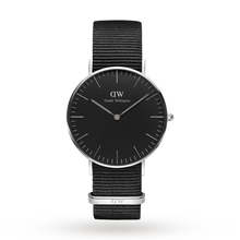 Daniel Wellington Unisex Classic Black Cornwall Watch 36mm Watch