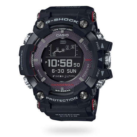 Casio GPR-B1000-1ER Mens G-Shock Rangeman Solar GPS Resin Strap Watch, Black