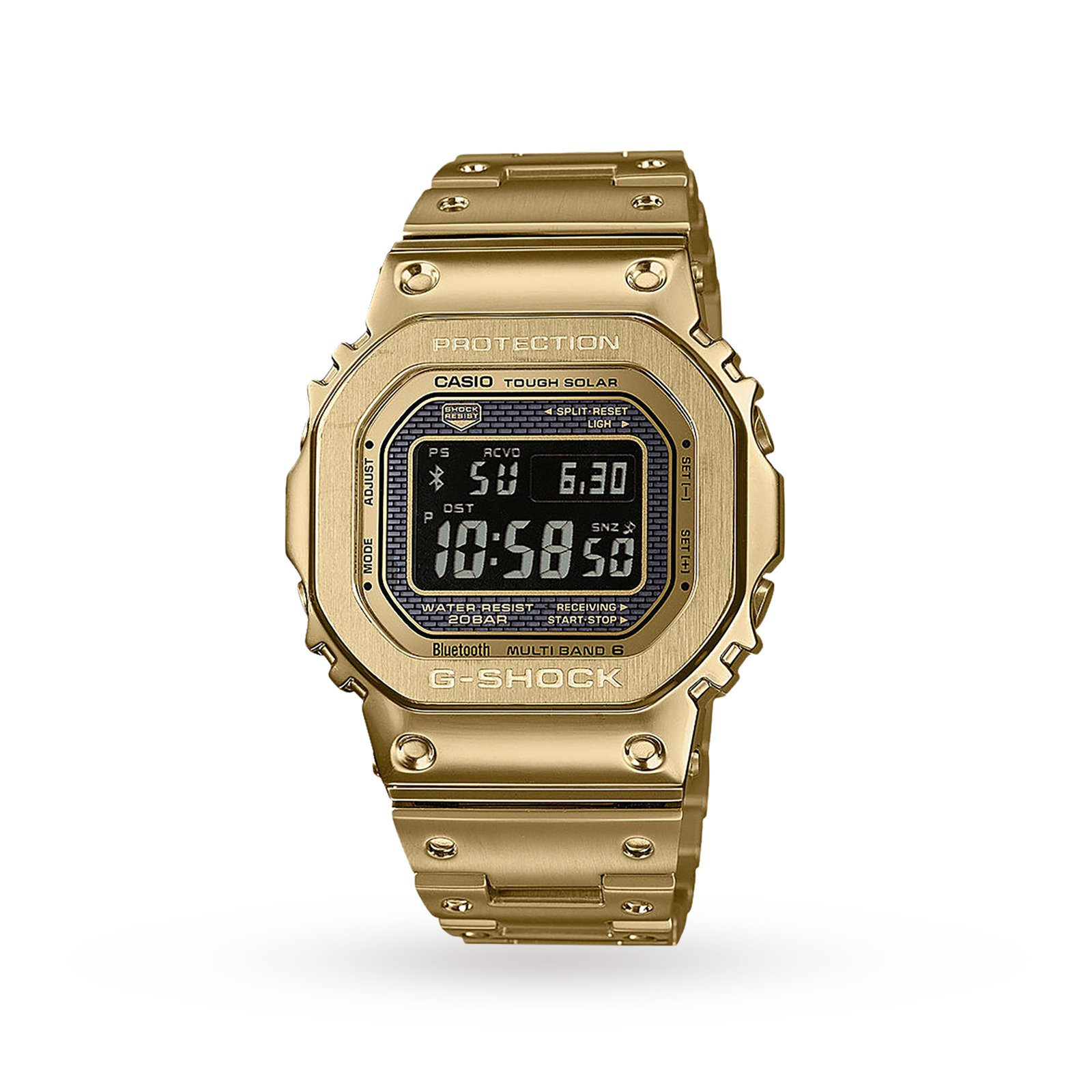 Casio G Shock Radio Controlled Bluetooth Solar Gold Plated Steel