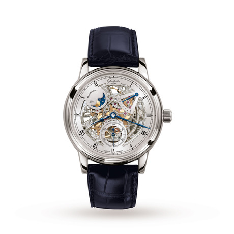 Glashutte Original Senator Moon Phase Skeletonized Edition Mens Watch
