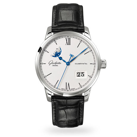 Glashutte Original Senator Excellence Panorama Date Moon Phase Mens Watch