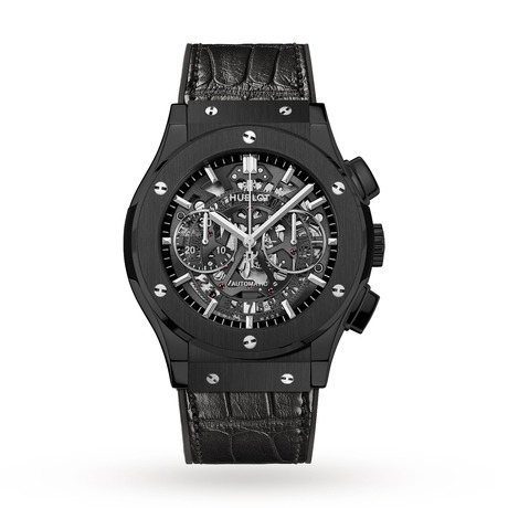 Hublot Classic Fusion Skeleton Chronograph Mens Ceramic 45mm Automatic Watch