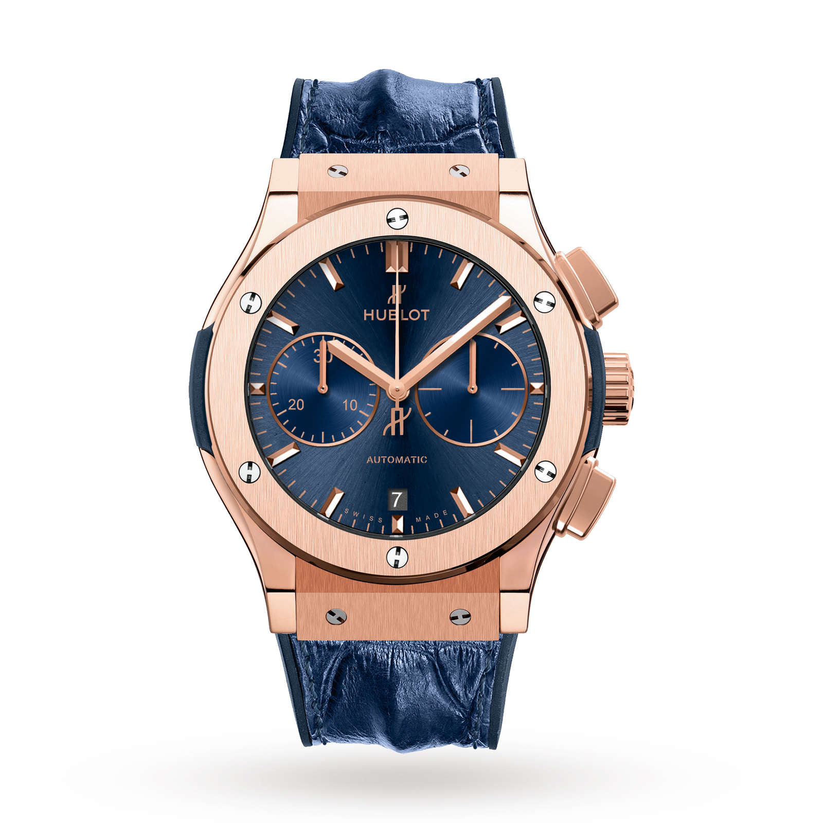 Hublot Classic Fusion Blue Chronograph King Gold 521.OX.7180.LR 45mm