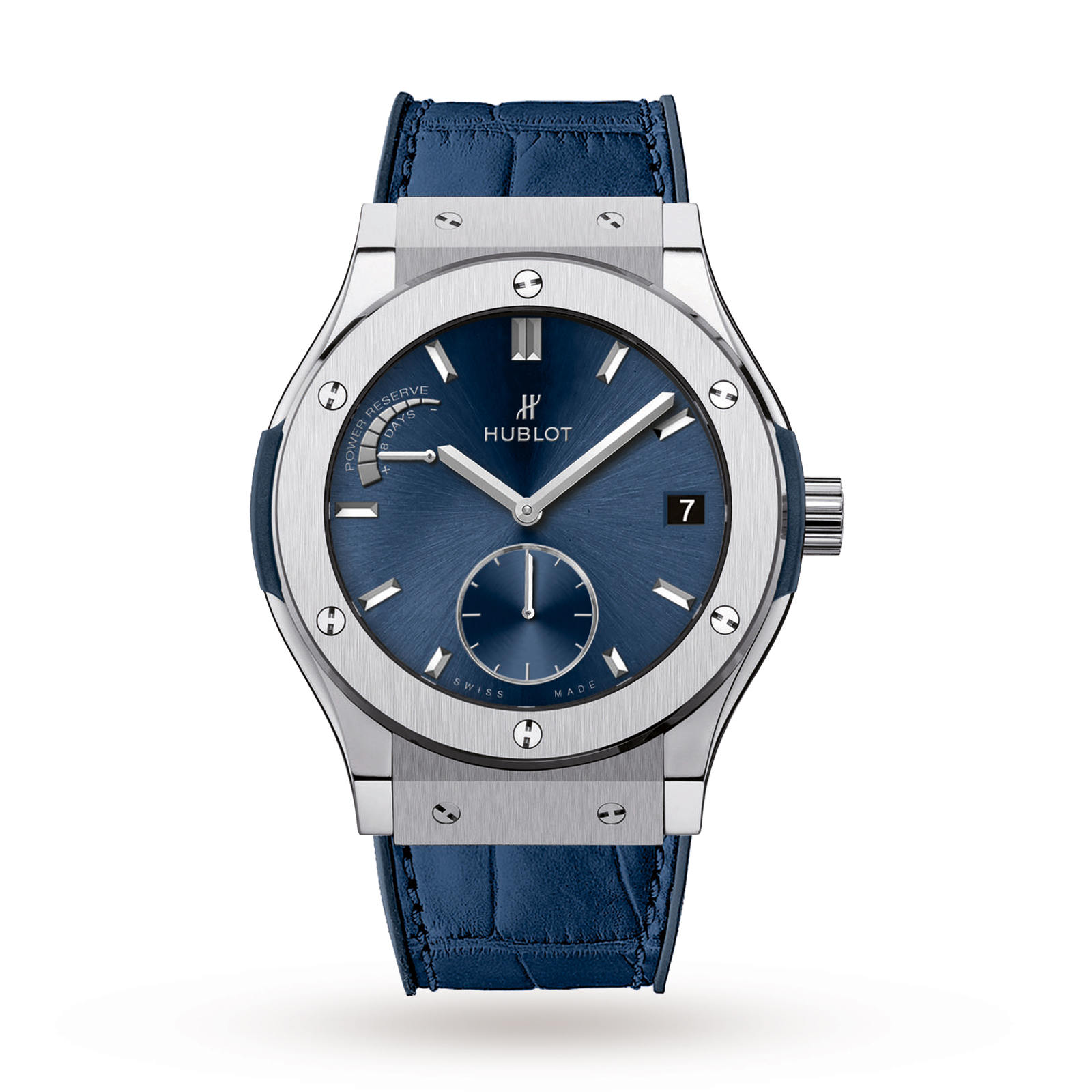 Hublot Classic Fusion Power Reserve Titanium Blue 516.NX.7170.LR 45mm