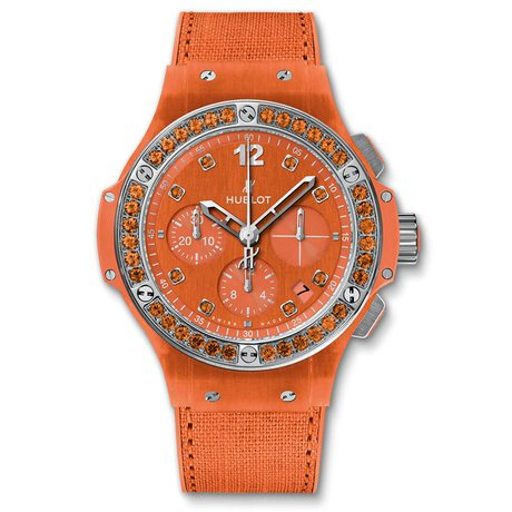 Hublot Big Bang Orange Linen Mens Chronograph 41mm Automatic Watch