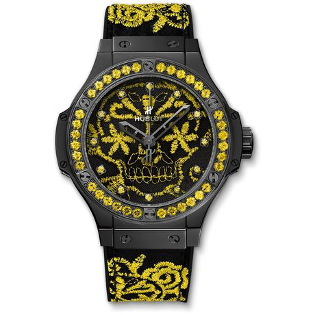 Hublot Big Bang Broderie Sugar Skull Fluo Sunflower 41mm Automatic Watch