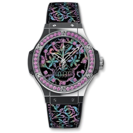 Hublot Big Bang Broderie Sugar Skull Steel 41mm Automatic Watch