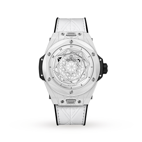 Hublot Big Bang Unico Sang Bleu Ceramic White Automatic 45mm