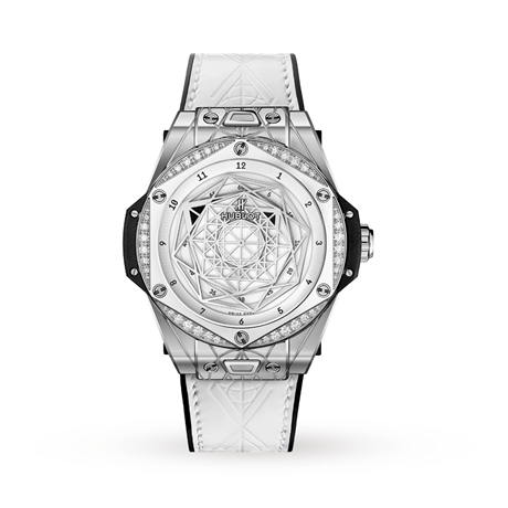 Hublot Big Bang One Click Sang Bleu Steel White Diamonds Automatic 39mm