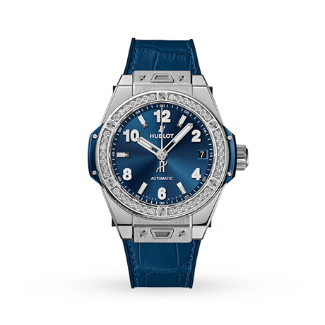Hublot Big Bang One Click Steel Blue Diamonds Automatic 39mm