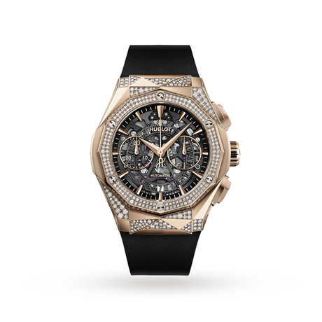 Hublot Classic Fusion Aerofusion Chronograph Orlinski King Gold Alternative Pave Automatic 45mm