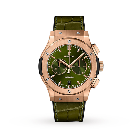 Hublot Classic Fusion Chronograph King Gold Green Automatic 42mm
