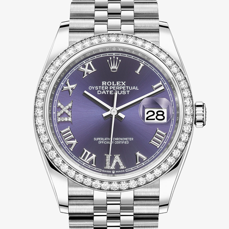 Rolex Datejust 36 Oyster, 36 mm, Oystersteel, white gold and diamonds M126284RBR-0013