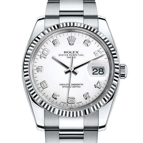 Rolex Date 34 Oyster, 34 mm, Oystersteel and white gold M115234-0010