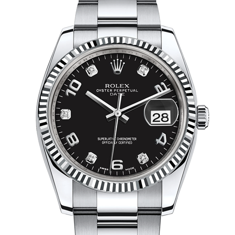 Rolex Date 34 Oyster, 34 mm, Oystersteel and white gold M115234-0011