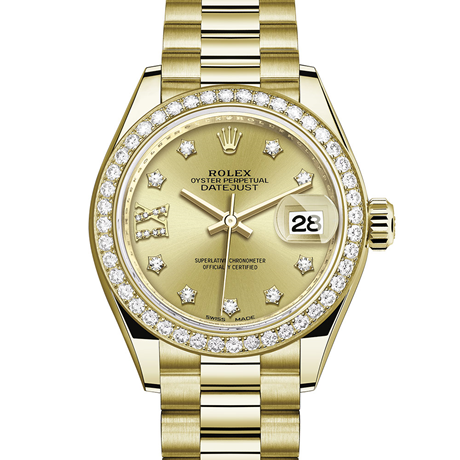 Rolex Lady-Datejust Oyster, 28 mm, yellow gold and diamonds M279138RBR-0006